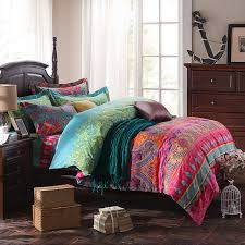 modern paisley print duvet covers fashion exotic boho bedding elegant striped bed sheet set