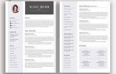 Modern Cv Word Creative Resume Template Modern Cv Word Cover Letter Templates 1