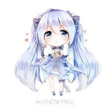 Snow Miku ○ 雪 | Chibi | Cute anime chibi, Kawaii anime, Kawaii chibi