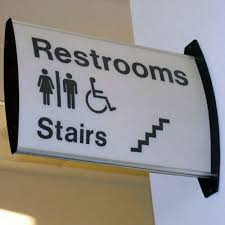 restroom directional sign. Restroom Door Signage Directional Sign