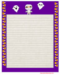 printable halloween writing paper purple border diy   printable halloween writing paper purple border