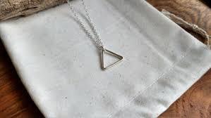 triangle necklace silver triangle
