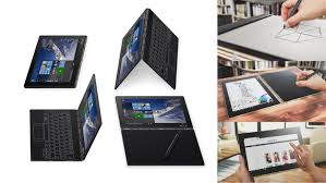 thin screen ful lenovo yoga book runs on android or windows 10