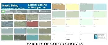 Mastic Siding Color Chart Mastic Vinyl Siding Colors Owenhomedesign Co