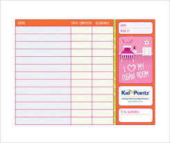 Chore Chart Samples 11 Chore Chart Template Free Sample Example Format Download