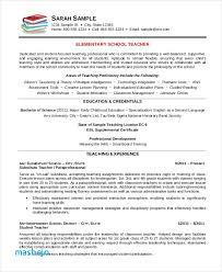 Teacher Resume Examples Elementary School Free Resume Templates For