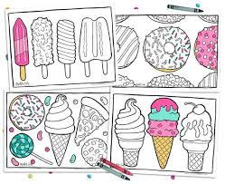 Download and print out this unicorn ice cream cone coloring page. Printable Coloring Pages Pizza Donut Party Adult Coloring Etsy