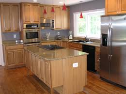 Light Grey Kitchen Walls With Oak Cabinets Good Looking Maple Kitchen Cabinets Grey Walls 2 Pretentious