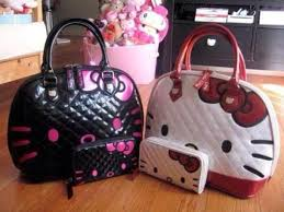 Hello Kitty White Quilted Face Tote Bag - Cutie Gifts &  Adamdwight.com
