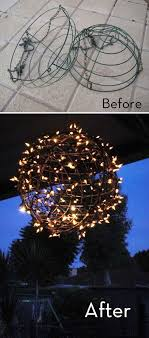 lighting decor ideas. how to turn wire baskets into a fairy light globe lighting decor ideas