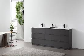 Rothenburg 72 Charcoal Freestanding Modern Bathroom Vanity Kartonrepublic
