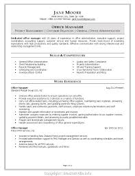 Make Office Manager Cv Template Resume Format For Front Office Job
