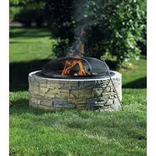 Stacked Stone Fire Pit stone fire pit bunnings fire pit design ideas 2699 by xevi.us