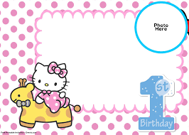invitation for birthday o kitty refrence free o kitty 1st birthday invitation template free invitation