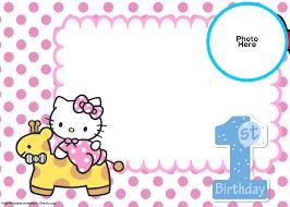 invitation for birthday o kitty refrence free o kitty 1st birthday invitation template free invitation