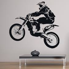 details about jump wall sticker motorbike sports wall decal boys bedroom home decor