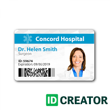 front of id card doctor id card 231