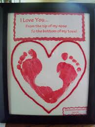 I Love You Crafts Valentines Footprint Heart From Our Daughter To Her Father On