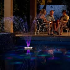 Floating Pool Fountain With Lights The 3 1 2 High Lightshow Floating Fountain Crafty Stuff