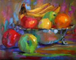 famous bowl of fruit painting. Daily Paintings By Elizabeth Blaylock American Impressionist SILVER BOWL WITH FRUIT Inside Famous Bowl Of Fruit Painting