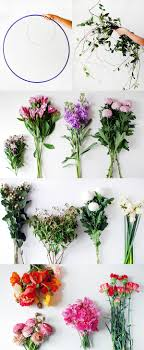 materials to make a diy fresh flower hanging chandelier