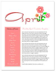 word document newsletter templates free april newsletter template by worddraw com