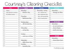 monthly house cleaning schedule template house cleaning invoice template or monthly cleaning checklist