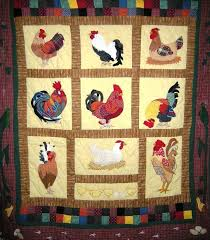 74 best Rooster quilts images on Pinterest | Roosters, Chicken ... & ROOSTER QUILTED THROW Adamdwight.com