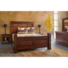 rustic traditional brown 6 piece king bedroom set aspen