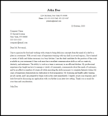 Professional Line Cook Cover Letter Sample Writing Guide Cover