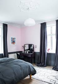 Pink Bedroom Colors Elegant And Feminin Master Bedroom With Pink Wall Paint Color