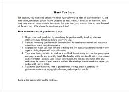 Awesome Collection Of Interview Thank You Letter Samples For