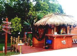 pool house tiki bar. Perfect Bar Poolside Tiki Bar In Pool House