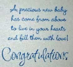 New Baby Boy Congratulations Sayings