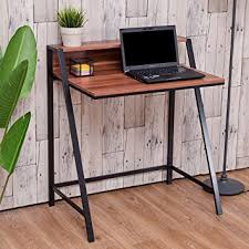 writing desks home office. Amazon Com Tangkula 2 Tier Computer Desk Home Office Wood Writing Inside Designs 7 Desks