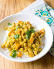agave curried crock pot chickpeas