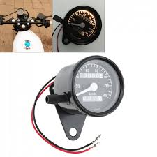 Yellow Light On Speedometer Us 9 1 40 Off 12v Universal Metal Retro Yellow Light Motorcycle Double Mileage Kilometers Speedometer In Instruments From Automobiles Motorcycles