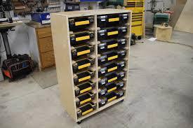 diy hardware storage cabinet with plans using dewalt organizers