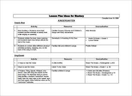 lesson plan template for kindergarten 11 kindergarten lesson plan template pdf doc free premium