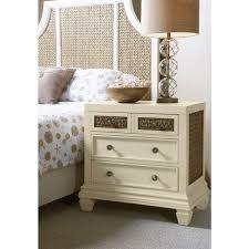 antique white nightstand. Panama Jack Bridge Hampton Antique White Wood/Seagrass Nightstand