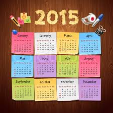 Calendar Format 2015 Office Stickers Calendar 2015 Calendar Stock Vector