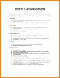 6 Writing A Good Resume Effective Resume Writing Resume Samples