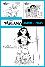 Princess moana disney coloring pages printable and coloring book to print for free. Moana Coloring Pages Desert Chica