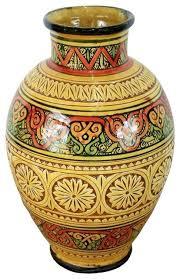 medium sized vases medium size hand painted ceramic vase yellow design 1 vases by design inc medium size glass vases
