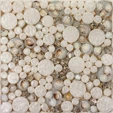 Penny Round Glass Mosaic Tile Backsplash Ideas For Kitchen Walls Interesting Resin Backsplash Ideas