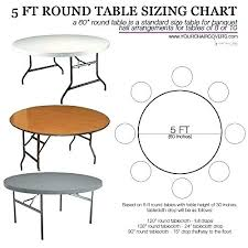 5ft table round table interior table size guide for wedding or party guest seating within round