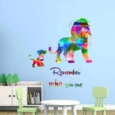 lion king wall decor full color wall decal watercolor character stick lion king nursery wall decor