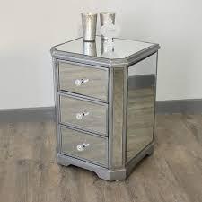 mirrored bedside furniture. The Angelina Range - Mirrored Bedside Table Mirrored Bedside Furniture