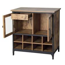 The rustic wine cabinet is made from The pine wine cabinet has