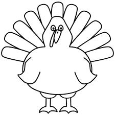 Turkey Color Page Free Coloring Library